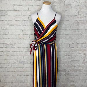 One One Six   Red, Blue & Yellow Maxi Wrap Dress